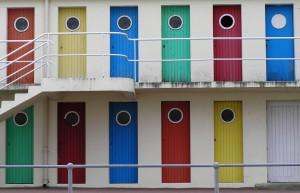 Portes colorées