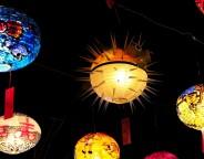 Lanternes colorées